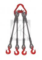 4СК - стропы канатные четырехветвевые
